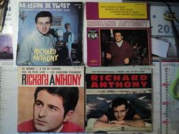 LOT DE SEPT 45 TOURS 4 TITRES RICHARD ANTHONY J IRAI TWISTER LE BLUES / REVIENS VITE MON AMOUR / J ENTENDS SIFFLER LE T - Autres - Musique Française
