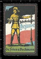 German Poster Stamp, Reklamemarke, Cinderella, Vignette, Scout, Erkunden, Pfadfinder, Scout, Scouting DEJUWE CHOCOLATE 1 - Scouting