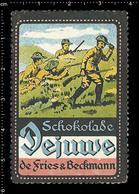 German Poster Stamp, Reklamemarke, Cinderella, Vignette, Scout, Erkunden, Pfadfinder, Scout, Scouting DEJUWE CHOCOLATE 3 - Scouting