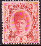 ZANZIBAR 1908 SG #227a 6с MH Wmk Sideways CV £13 - Zanzibar (...-1963)