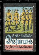 German Poster Stamp, Reklamemarke, Cinderella, Vignette, Scout, Erkunden, Pfadfinder, Scout, Scouting DEJUWE CHOCOLATE 4 - Scouting