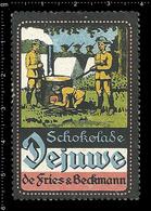 German Poster Stamp, Reklamemarke, Cinderella, Vignette, Scout, Erkunden, Pfadfinder, Scout, Scouting DEJUWE CHOCOLATE 5 - Scouting