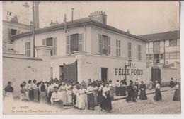 PARIS 19 ème (75) : LA SORTIE DE L'USINE FELIX POTIN - LES OUVRIERES - ECRITE EN 1906 - 2 SCANS - - District 19