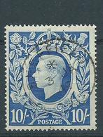 Gret Britain George V1 Superb Used Vfu 10/- Sg478b - Used Stamps