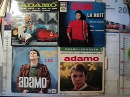 LOT DE QUATRE 45 TOURS ADAMO. EGF 1022 / EGF 800 / 7 MQ 2007 / EGF 699 VALSE D ETE / ET SUR LA MER / F COMME FEMME - Vinyles