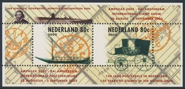 Nederland Netherlands Pays Bas 2000 B66 = Mi 821 /2 ** Canal Boat, Postmark / Postboot + Mail Carriage / Postkutsche - Post