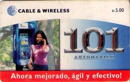 TARJETA TELEFONICA DE PANAMA (CHIP NEGRO).PAN-C&W-58a (032) - Panama