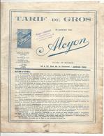 Doc   Cycles Velomoteurs Et Motos  Tarif De Gros   Alcyon 1940 4pages  Courbevoie - France