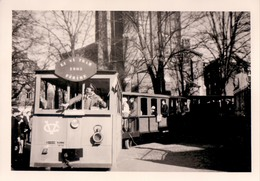 Lot 3x Foto Photo (9 X 13 Cm) Carnaval Fête ? Ferrières ?? Li Vi Tram 1905 Férire Conducteur - Ferrieres