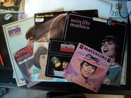 LOT DE DEUX 45 TOURS / DEUX 45 TOURS 4 TITRES ET TROIS 33 TOURS MIREILLE MATHIEU. 1967 / 1975  APPRENDS MOI / SOUVIENS - Vinyles