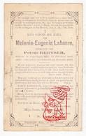 DP Melania Eug. LaBaere ° Poperinge 1845 † 1881 X Petrus DeByser DeBijser - Devotion Images
