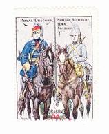 Vignette Militaire Delandre - 1er Régiment De Dragons - Vignettes Militaires