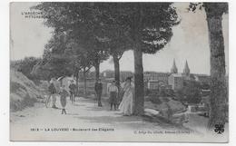 LA LOUVESC - N° 1612 - BOULEVARD DES ELEGANTS AVEC PERSONNAGES - CPA VOYAGEE - La Louvesc