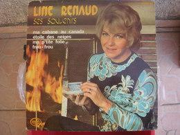 """33T. LINE RENAUD. SES SOUVENIRS - Ma Cabane Au Canada - Ma P'tite Folie - Frou Frou - Les Enchaines """"Unchained Melody"""" - Vinyles"""