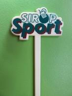 032 - Touilleur - Agitateur - Mélangeur à Boisson - Sirop Sport - Blanc - Swizzle Sticks