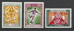 Foot Ball Soccer** MNH JO 86  Algérie 474/78   Jeux Olympiques 1986 Mexico - Zomer 1968: Mexico-City