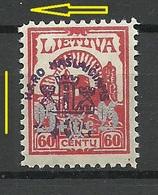LITAUEN Lithuania 1926 Michel 255 * OPT ERROR Swift To Left - Lithuania