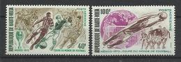 Foot Ball Soccer** MNH Mexico 70 Haute Volta A78/79  Coupe  Du Monde 1970 - 1986 – Mexiko