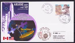 ESPACE - ARIANE Vol Du 2009/07 V189 - Conseil De L'Europe - 1 Document - Europe