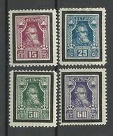 LITAUEN Lithuania 1927 Michel 274 - 277 * - Lituania