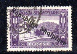 397 - 490 - ALBANIA 1925 ,    Yvert N. 157  Usato - Albania