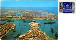 MALTA  LA VALLETTA  The Grand Harbour   Nice Stamp - Malta
