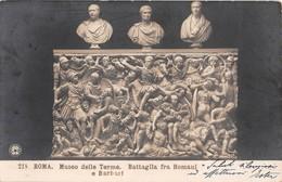 """800 """" ROMA-MUSEO DELLE TERME-BATTAGLIA FRA ROMANI E BARBARI ."""" CART ORIG.  SPE - Musei"""