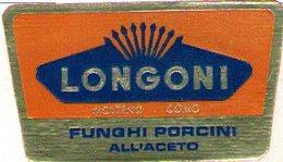 B 1839 - Etichetta, Longoni, Molteno, Como - Frutta E Verdura