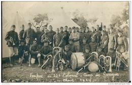 30    Nimes    FANFARE  DU 22e COLONIAL - CAMP  De GARRIGUES  En 1924 - Régiments