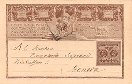 """804 """" CARTOLINA POSTALE COMMEMORATIVA DEL XXV° ANNIVERSARIO DELLA LIBERAZIONE DI ROMA"""" CART. ORIG.  SPEDITA - Otros"""