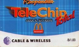 TARJETA TELEFONICA DE PANAMA (PREPAGO). PAN-C&W-111 (015) B/1,00 MCDONALDS - Panamá