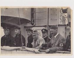 DEUTSCHLAND --  MARINE, FLOTTEN PARADE VOR KIEL 1933 /  DER FUHRER UND ...  / KREUZER ,, LEIPZIG ,, / PHOTO  12 Cm X 8 - 1939-45
