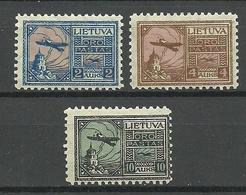LITAUEN Lithuania 1922 Michel 121 - 123 * - Lithuania