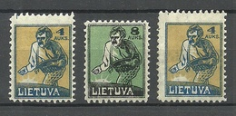LITAUEN Lithuania 1922 Michel 124 - 125 * Mi 124 Perforation Error Long Stamp - Litauen