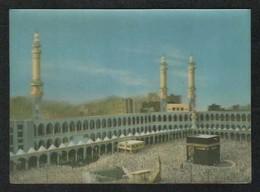 Saudi Arabia 3 D Picture Postcard Holy Mosque Ka'aba Mecca Islamic Islam Plastic View Card - Saudi Arabia