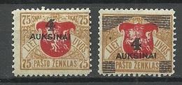 LITAUEN Lietuva Lithuania 1922 Michel 116 - 117 * - Lithuania