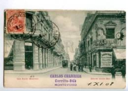 173322 URUGUYAY Montovideo Calle Rincon Vintage RPPC To Russia - Uruguay