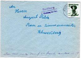 Österreich 1958, Brief M. Posthilfstellen L2 RECHBERG Post Windhaag Bei PERG - Ohne Zuordnung