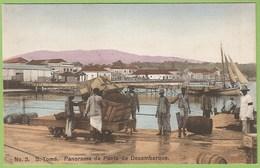 S. Tomé E Princípe - Panorama Da Ponte De Desembarque - Cais - Harbor - Caminho De Ferro - Railway - Chemin De Fer - Sao Tome And Principe