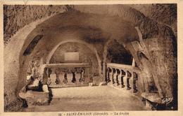 CARTE POSTALE ANCIENNE,GIRONDE,SAINT EMILION EN 1937,CAVE A VIN,GROTTE ANCIENNE,PHOTO GABY - Saint-Emilion