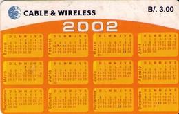 TARJETA TELEFONICA DE PANAMA (CHIP). PAN-C&W-66 (042) CALENDARIO - Panamá