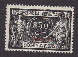 Azores, Scott #Q7, Mint Hinged, Parcel Post Overprinted, Issued 1921 - Azores