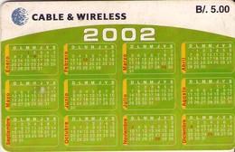 TARJETA TELEFONICA DE PANAMA (CHIP). PAN-C&W-67 (041) CALENDARIO - Panamá