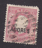 Azores, Scott #25, Used, Portugal Stamp Overprinted, Issued 1871 - Azores