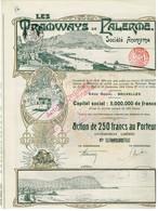 Action Ancienne - Les Tramways De Palerme Société Anonyme - Titre De 1909 - Chemin De Fer & Tramway