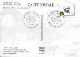 3536 - ALEXANDRE DUMAS - 23e BOURSE DE CARTES POSTALES Au 8-12-2002 SAINT-DENIS-EN-VAL - Marcophilie (Lettres)
