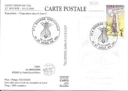 3978 - HÉLICOPTÈRE- 27e BOURSE DE CARTES POSTALES Au 10-12-2006 SAINT-DENIS-EN-VAL, Thème:ABEILLE - Matasellos Conmemorativos