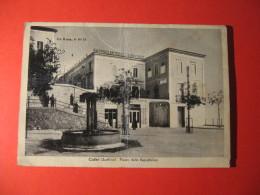CARTOLINA  CALITRI  ( AVELLINO )  PIAZZA DELLA REPUBBLICA  ANIMATA   B -  1481 - Avellino