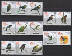 A030.-. KOLUMBIEN - 2018  - MNH- BIRDS STAMP SET X 13 - Colombie