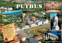 73234184 Putbus_Ruegen Fliegeraufnahme Denkmal Theater Rathaus Putbus Ruegen - Alemania